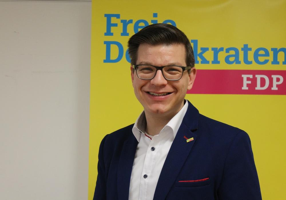 Björn Försterling freut sich über das große Interesse am Zukunftstag bei der FDP.  Foto: FDP