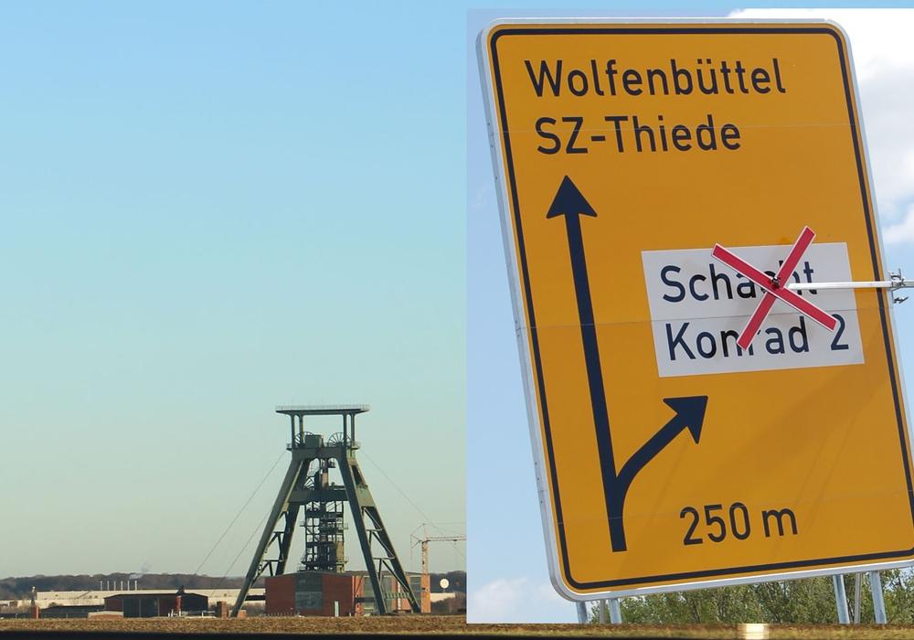 Die WAAG will ausschließen, dass das Eingangslager für Schacht Konrad in den Landkreis Wolfenbüttel kommt. Fotos: Alexander Panknin und WAAG