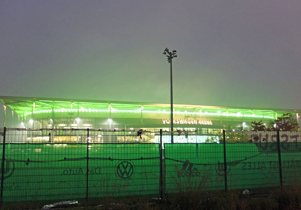 Volkswagenarena Wolfsburg. Foto: Frank Vollmer