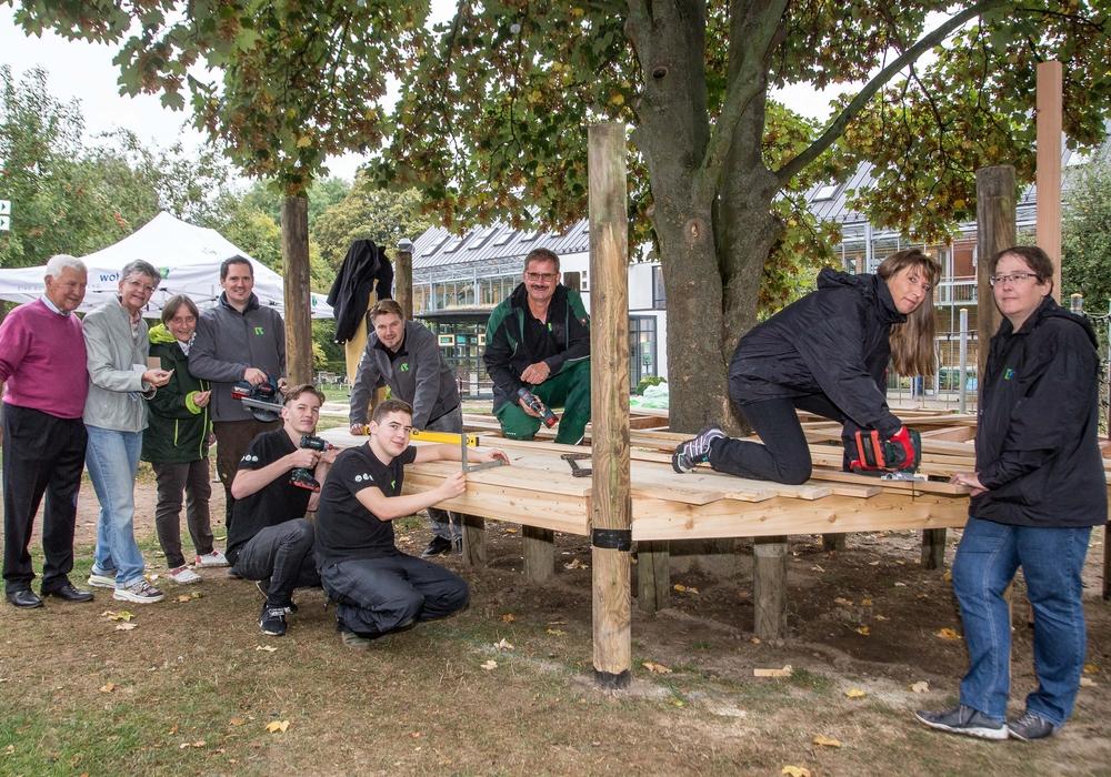 Auch in diesem Jahr fand die Aktion Brücken bauen statt. Fotos: Karliczek