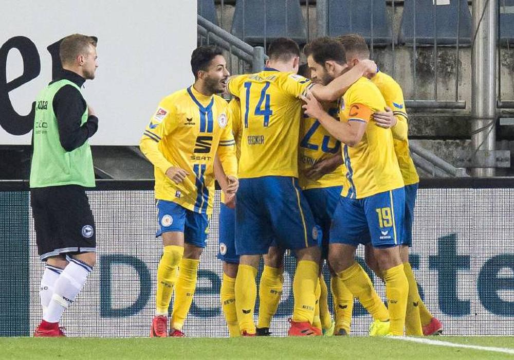 Zwei Tore, doch wieder kein Sieg: Eintracht Braunschweig. Foto: imago/Kirch-Media