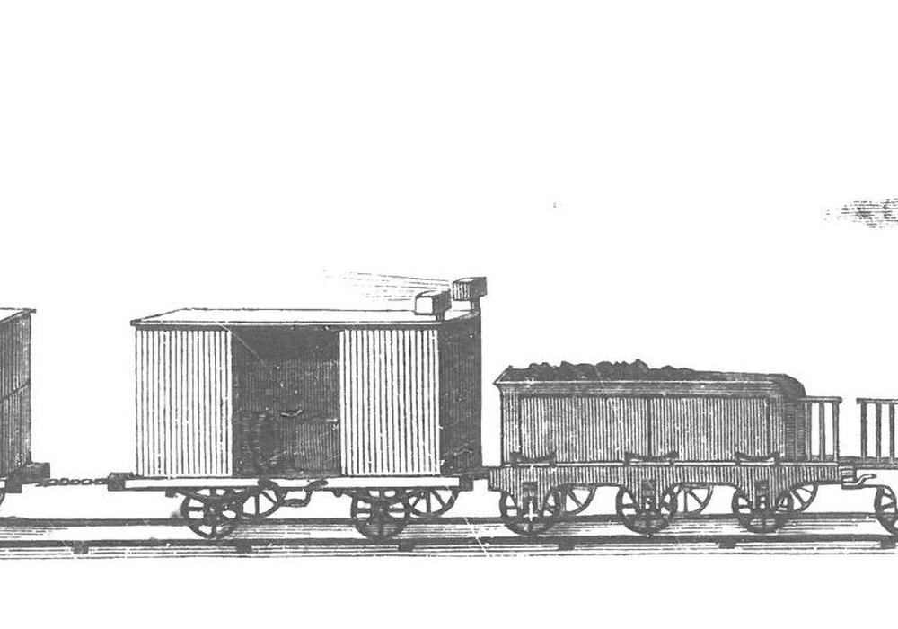 Braunschweigische Eisenbahn 1853. Foto: Niedersächsisches Landesarchiv