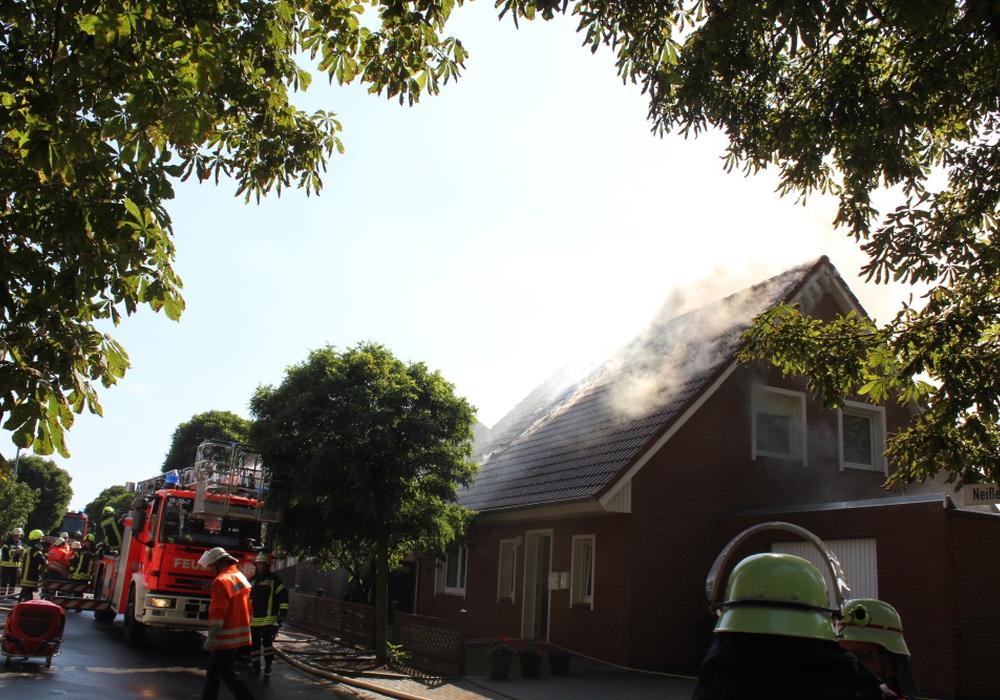 Die Feuerwehr konnte den Brand schnell löschen. Foto: Feuerwehr