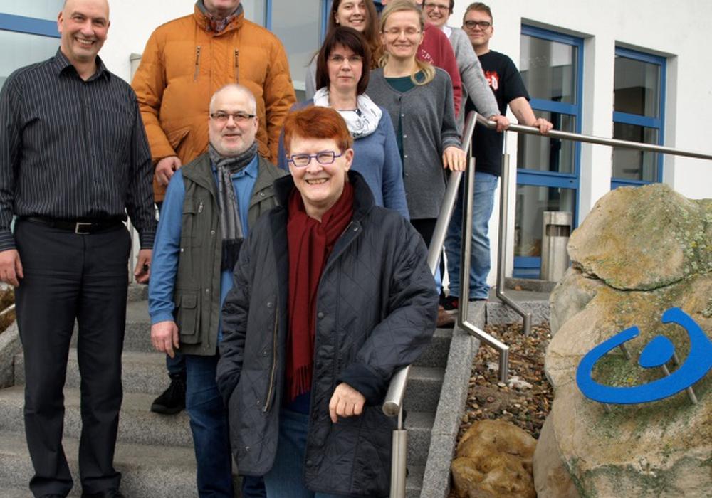 Ralf Mühlisch zu Besuch bei der Lebenshilfe. Er fordert eine Brücke über die Braunschweiger Straße bei Detmerode. Foto: SPD Wolfsburg
