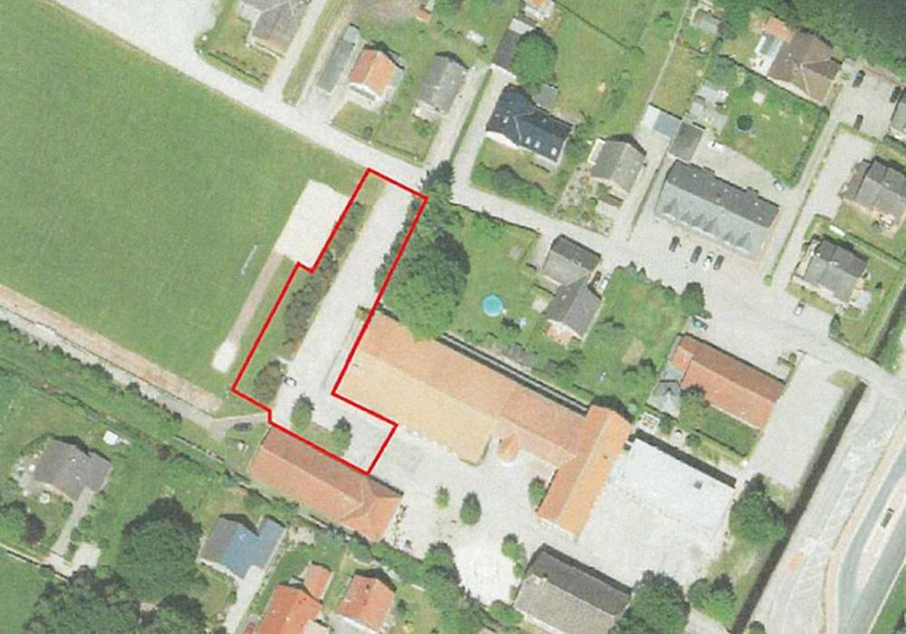 Lageplan für den Multifunktionsplatz. Foto: Gemeinde Sassenburg