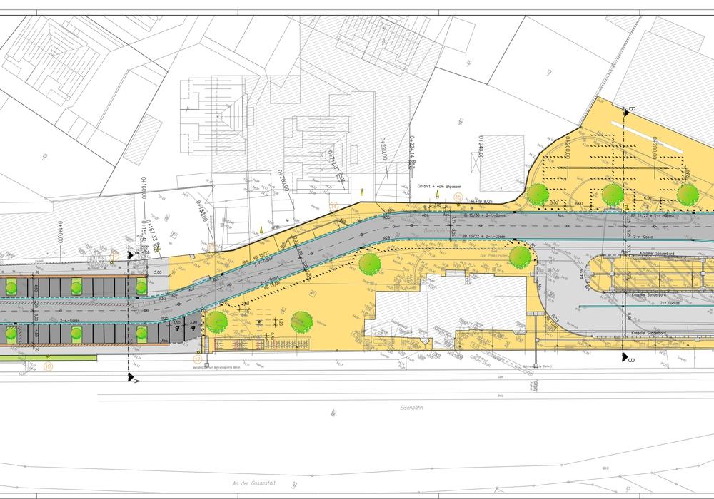 Die Arbeiten am Bahnhof Gifhorn Stadt schreiten weiter voran. Grafik: Stadt Gifhorn