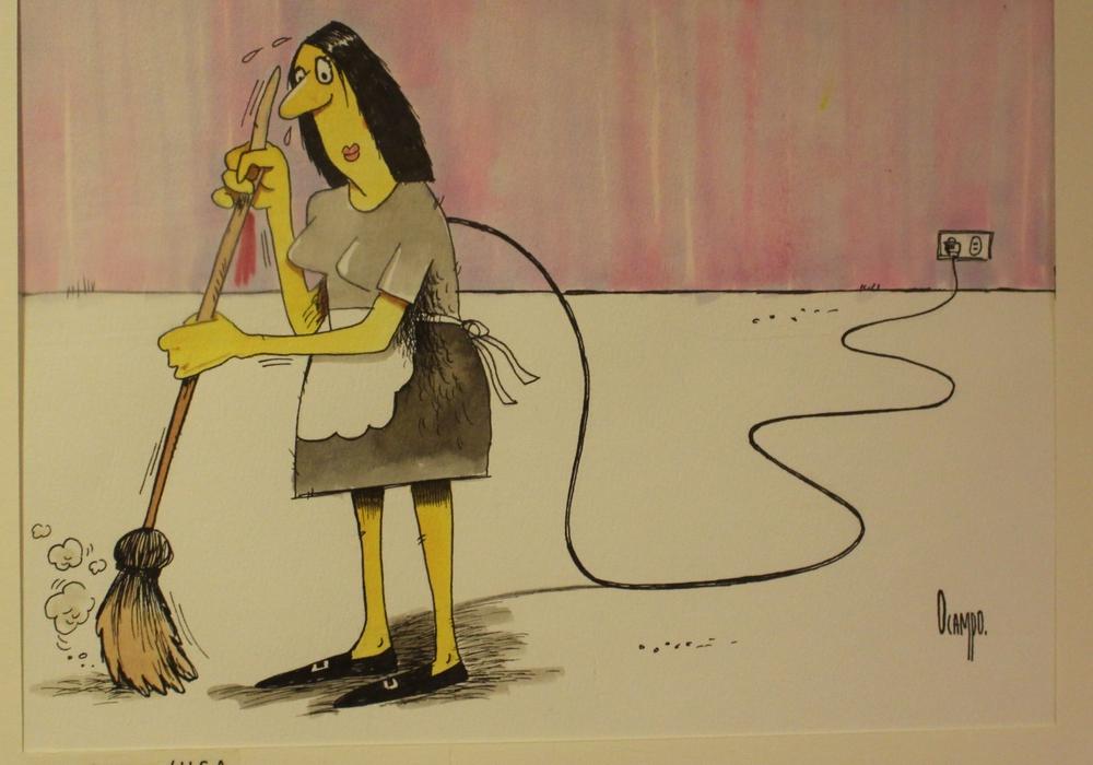 "Karikaturenausstellung ""FrauenWelten"" im Kreismuseum. Foto: Antonia Henker"