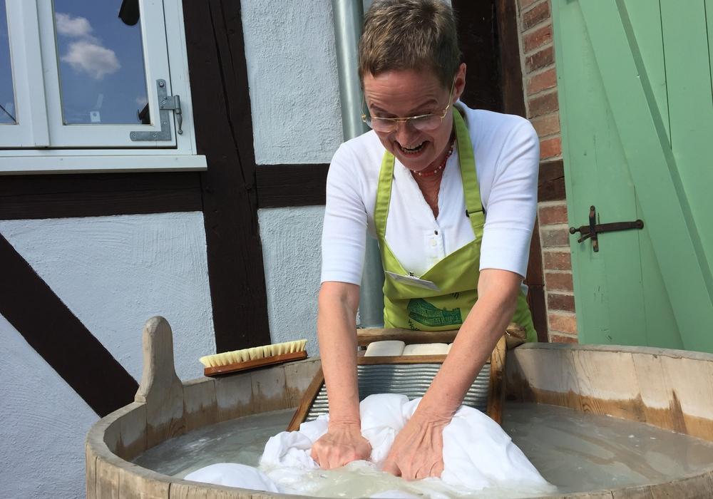 """Sonderausstellung """"Wäschewaschen"""" im Gärtnermuseum. Foto: Anke Donner"""