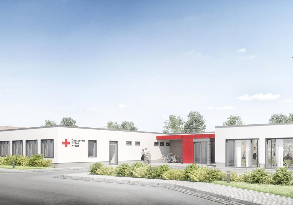 So soll der Neubau der DRK-Sozialstation Grußendorf aussehen. Foto: Buehring Architekten