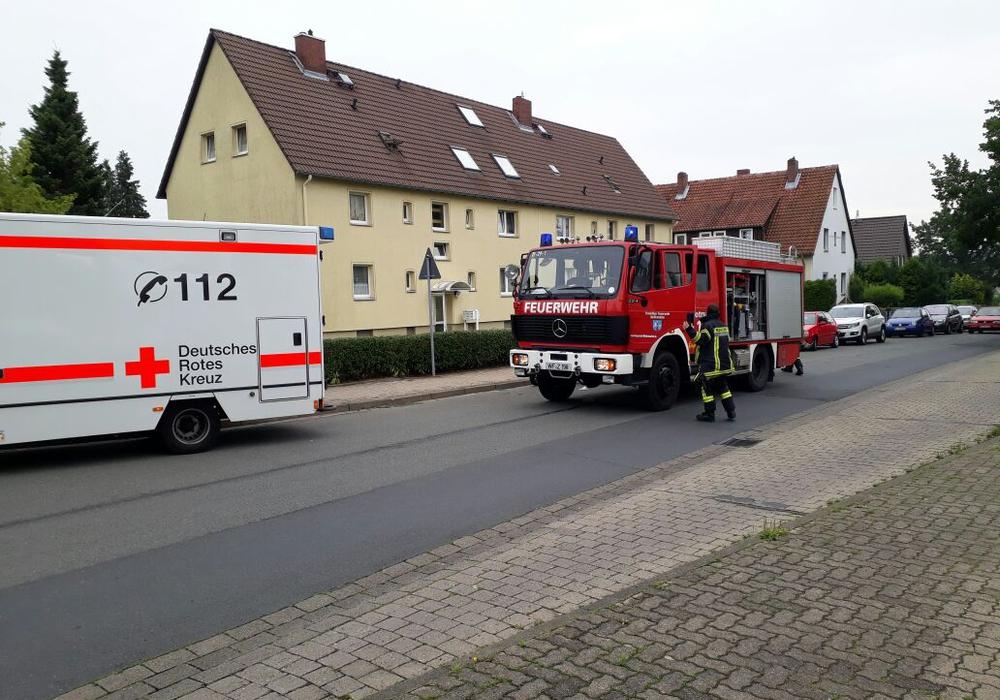 Rettungsdienst und Tanklöschfahrzeug wurden glücklicherweise nicht benötigt. Fotos: Feuerwehr Wolfenbüttel