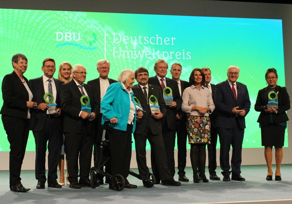 In der Braunschweiger Stadthalle fand am Sonntag die Verleihung des Deutschen Umweltpreises statt. Fotos: Anke Donner