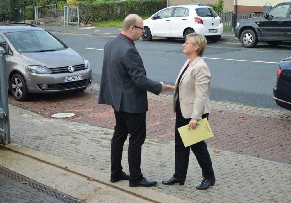 Jörn Domeier und Frauke Heiligenstadt waren am vergangenem Freitag in der Lebenshilfe-Kita zu Besuch. Foto: SPD Unterbezirk Helmstedt