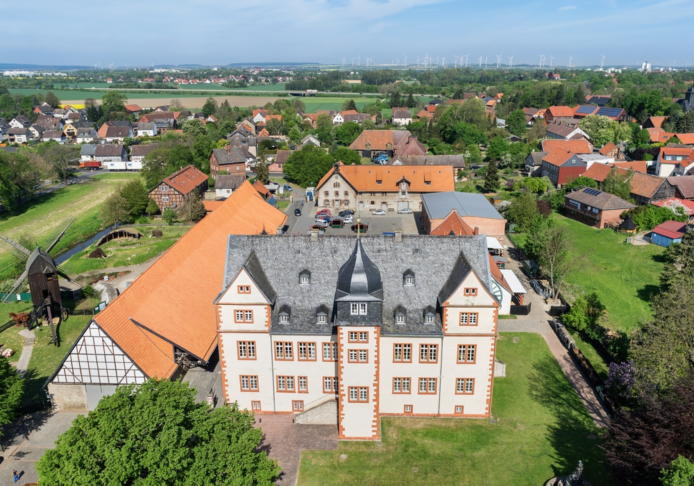 Das Schloss Salder von oben. Foto: André Kugellis