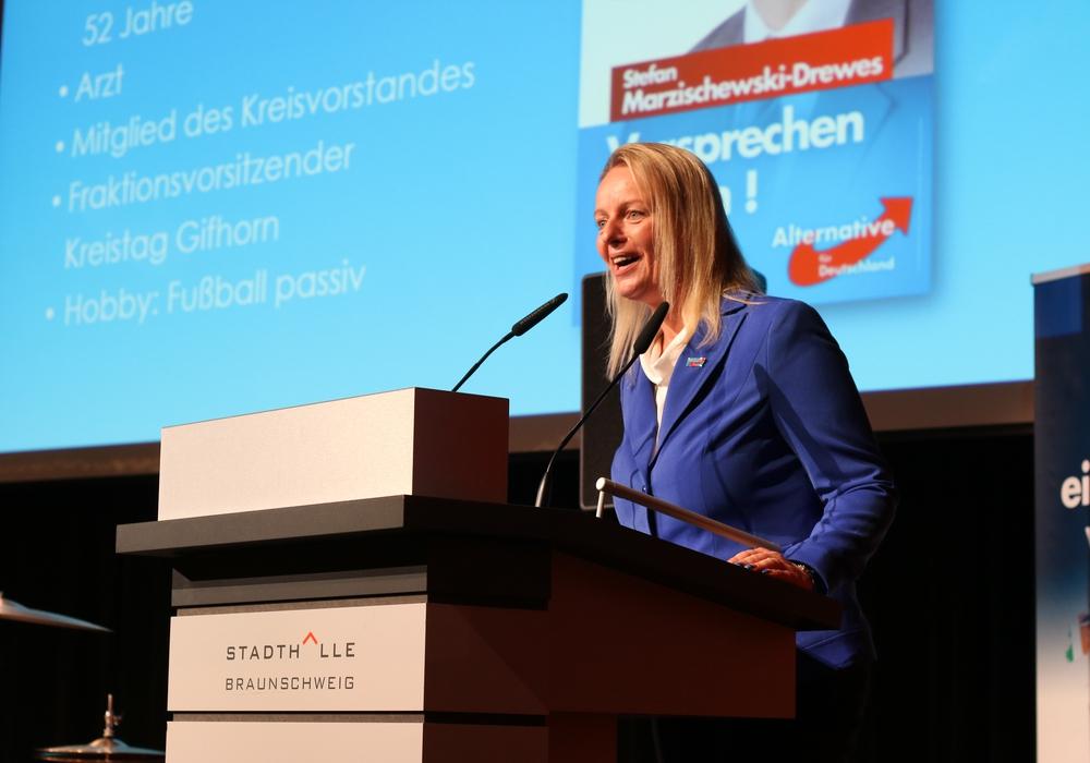Die ehemalige AfD-Landesvorsitzende Dana Guth. Archivbild