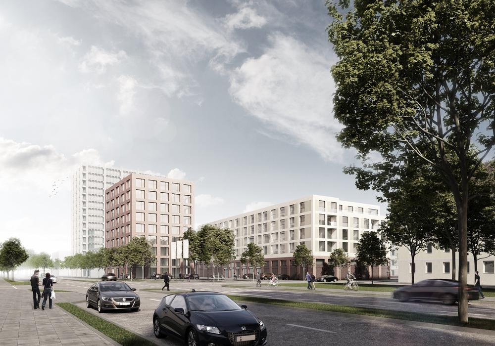 Das neue Stadtquartier, Visualisierung: BraWo Projekt GmbH