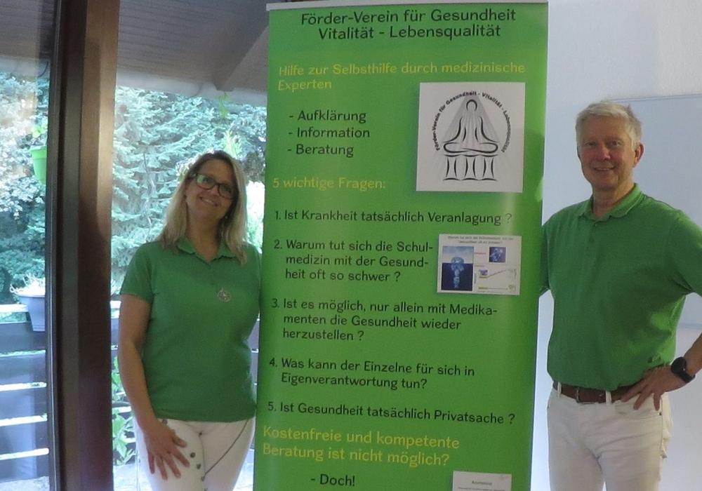 Marion Laup und Joachim Wendrich haben den Gesundheits-Förderverein Peine ins Leben gerufen und laden zum kostenlosen Vortrag über die Vermeidung und Behandlung von Diabetes, Bluthochdruck, Krebs uvm ein. Foto: Gesundheits-Förderverein Peine