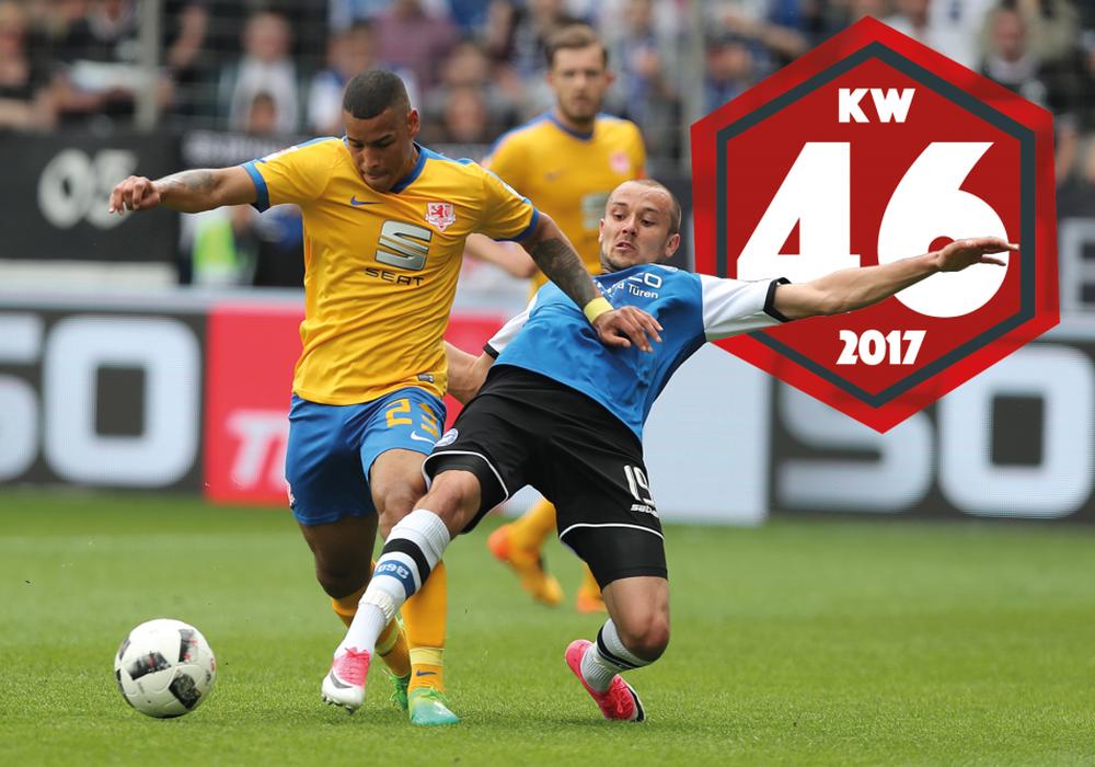 Onel Hernández und Eintracht Braunschweig treten in Bielefeld an. Foto: Agentur Hübner