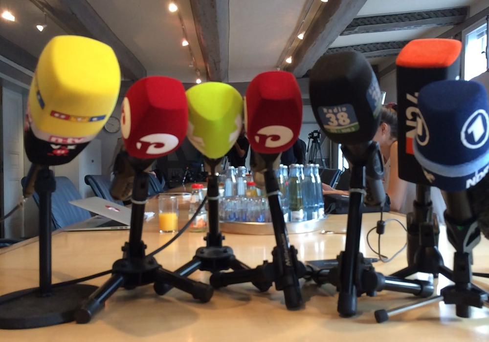 Großes Medieninteresse an der Pressekonferenz. Foto: Werner Heise