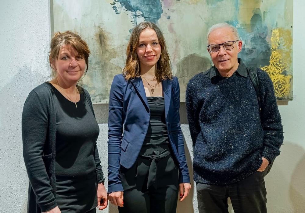 Angelika Uminski, Lilly Körfer und Pieter K.G. Welge. Foto: Die Grünen