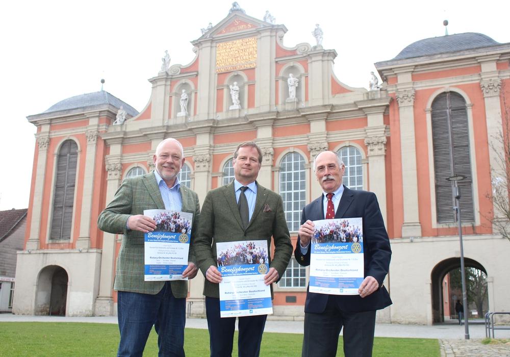 Hermann Isensee, Michael Siebert und Hans Symens vom Rotary Club Salzgitter-Wolfenbüttel-Vorharz. Foto: Jan Borner