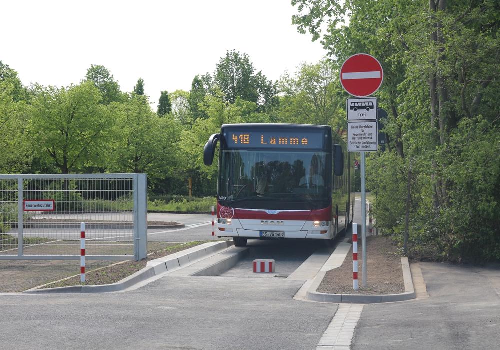 Die Busschleuse am Raffteichbad spielt bei den Überlegungen zum Abtransport auch eine Rolle. Foto: Archiv/Robert Braumann