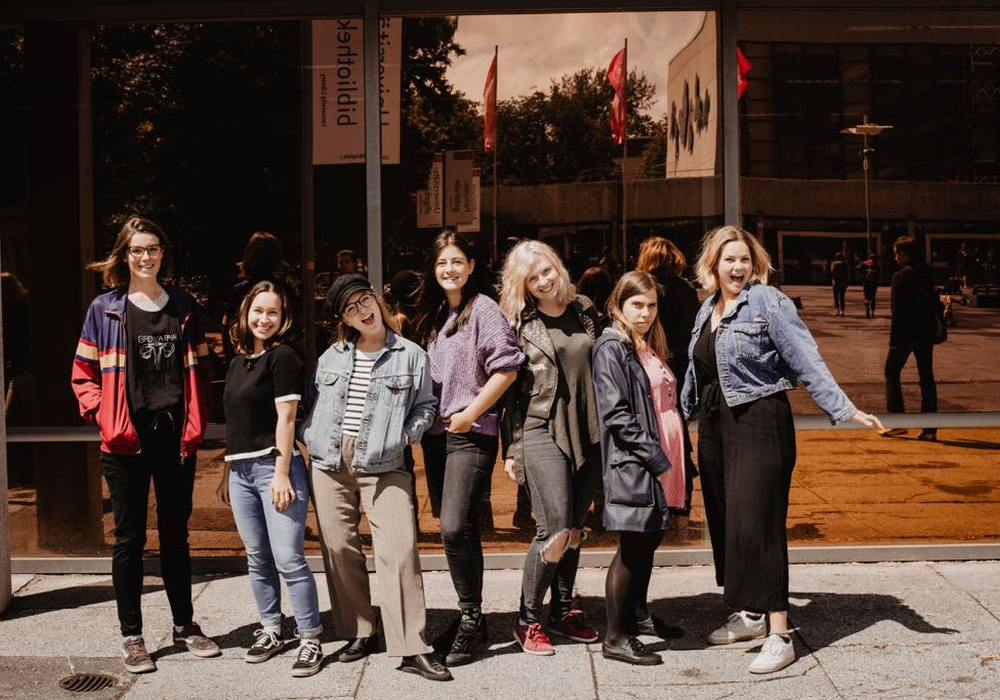 Die Projektgruppe: Merle, Florencia, Luisa, Antonia, Denise, Marisol und Birthe. Auf dem Bild fehlen: Fabio, Feli und Anna. Foto: Projektgruppe