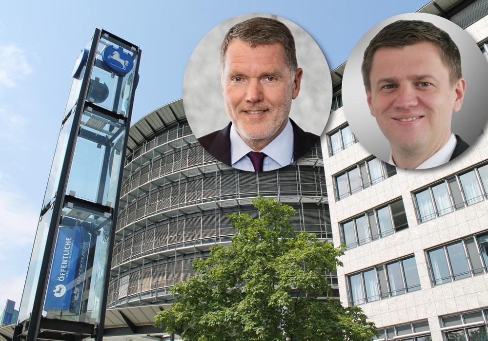 Knud Maywald (links) wird ab dem neuen Jahr Vorstandsvorsitzender der Öffentlichen Versicherung. Dirk Gronert komplettiert den Vorstand. Foto: Öffentliche/Balder
