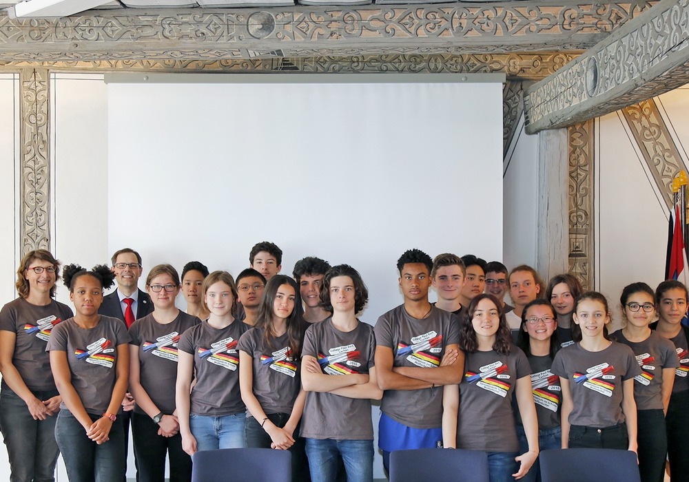 20 Schülerinnen und Schüler aus dem Collège Paul Bert (Cachan) sind derzeit am Gymnasium im Schloss (GiS) zu Gast. Foto: Stadt Wolfenbüttel
