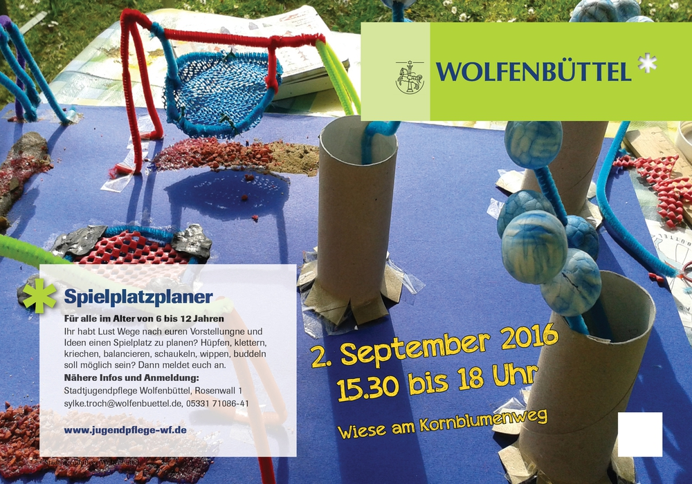 Die Stadtjugendpflege sucht Planer-Kids für den Spielplatz am Kornblumenweg. Foto: Stadt Wolfenbüttel