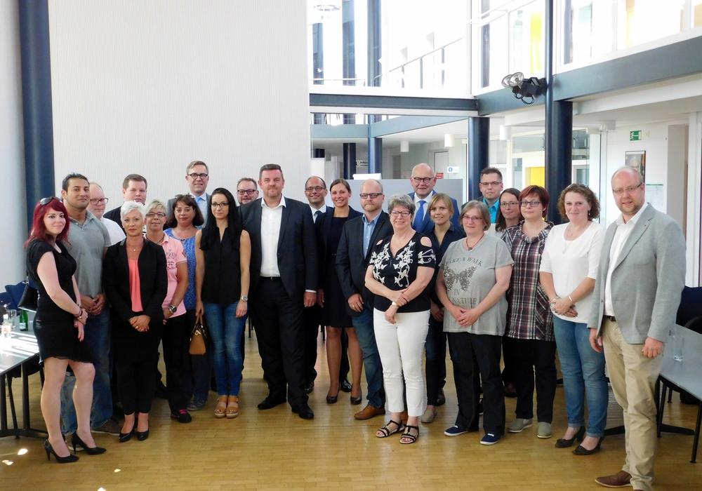 Zu einem runden Tisch hatte Lehres Gemeindebürgermeister Andreas Busch eingeladen. Foto: Gemeinde Lehre