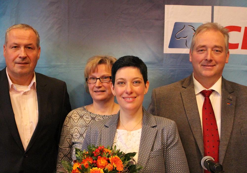 Andreas Glier (Kreisverband Wolfenbüttel), Astrid Reupke (Kreisverband Salzgitter, Sarah Grabenhorst-Quidde, Frank Oesterhelweg bei der Wahlkreismitgliedervollversammlung der CDU. Foto: Antonia Henker