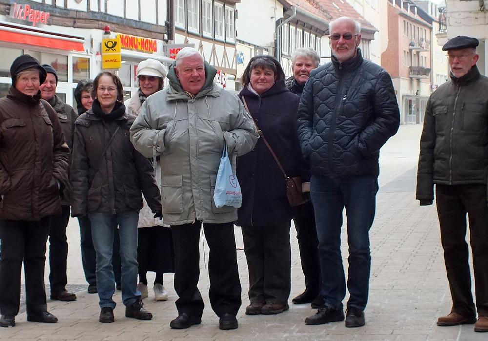 Die ADAC Gruppe vor dem Ersteigen des Hausmannsturms. Fotos: Achim Klaffehn