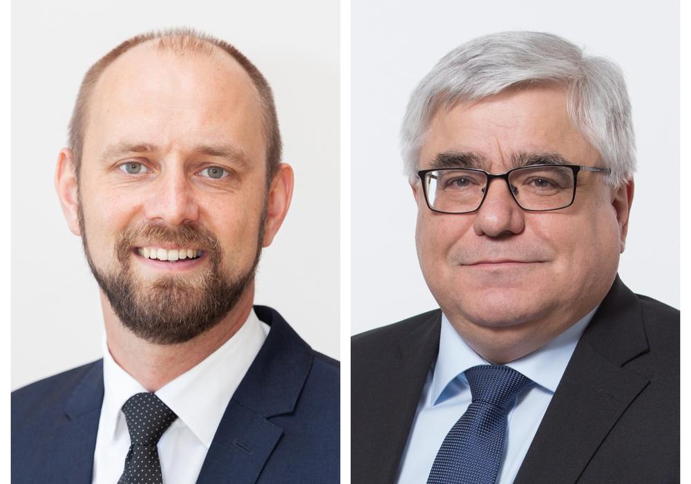 Wer folgt auf Henry Bäsecke: Malte Schneider (links) oder Markus Sobotta (rechts)? Fotos: SPD Unterbezirk Braunschweig/CDU Kreisverband Helmstedt