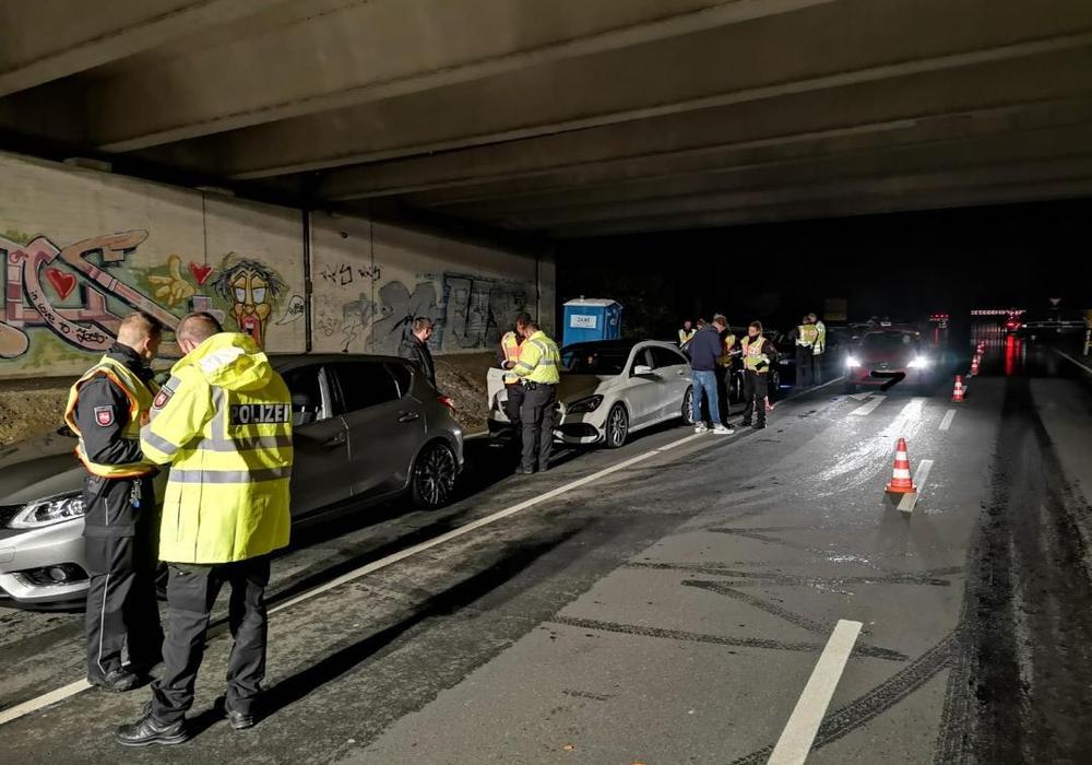 Bis 18 Uhr fanden die Kontrollen statt. Foto: Polizei