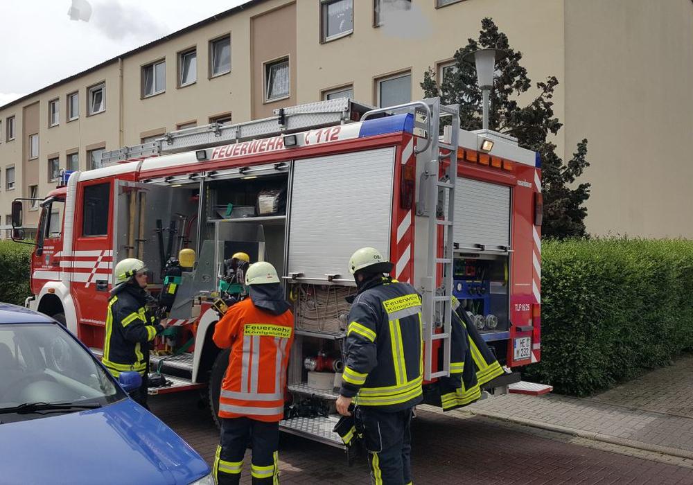 Durch das schnelle Eingreifen der Feuerwehr konnte schlimmeres verhindert werden. Foto: Feuerwehr Helmstedt