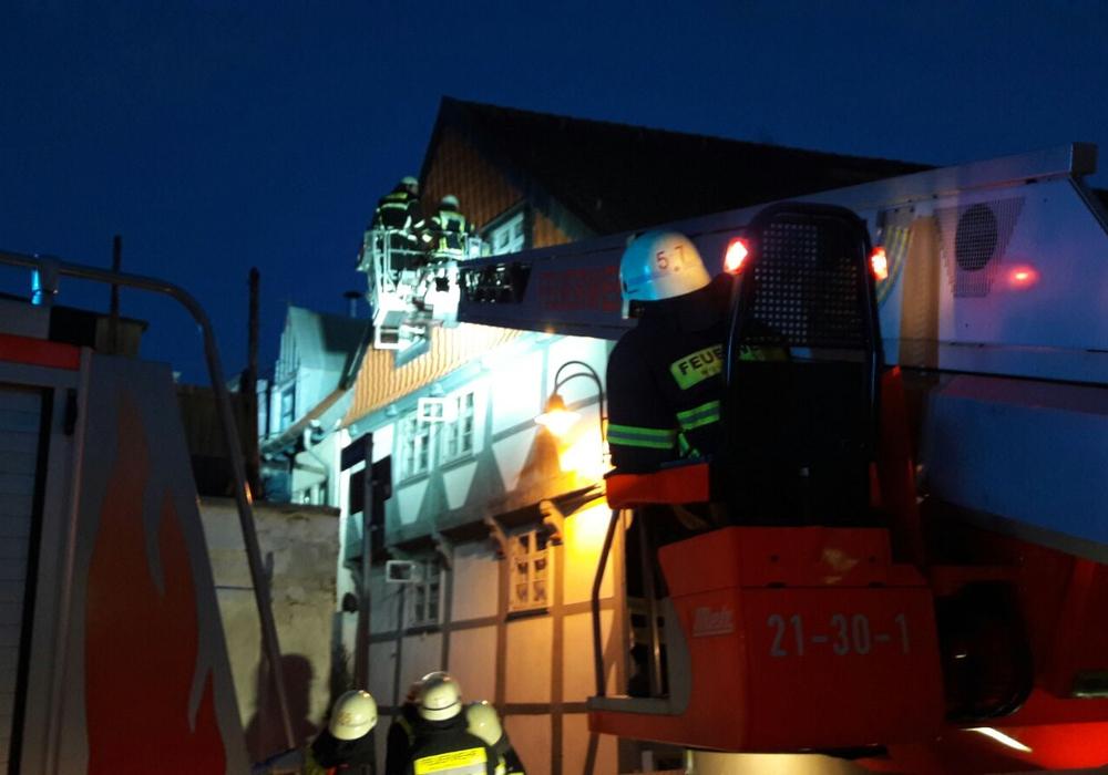 """Das Sturmtief Thomas hat die Region nur """"angekratzt"""". Polizei und Leitstelle melden bis auf kleinere Einsätze, keine großen Schäden. Foto: Feuerwehr Wolfenbüttel"""