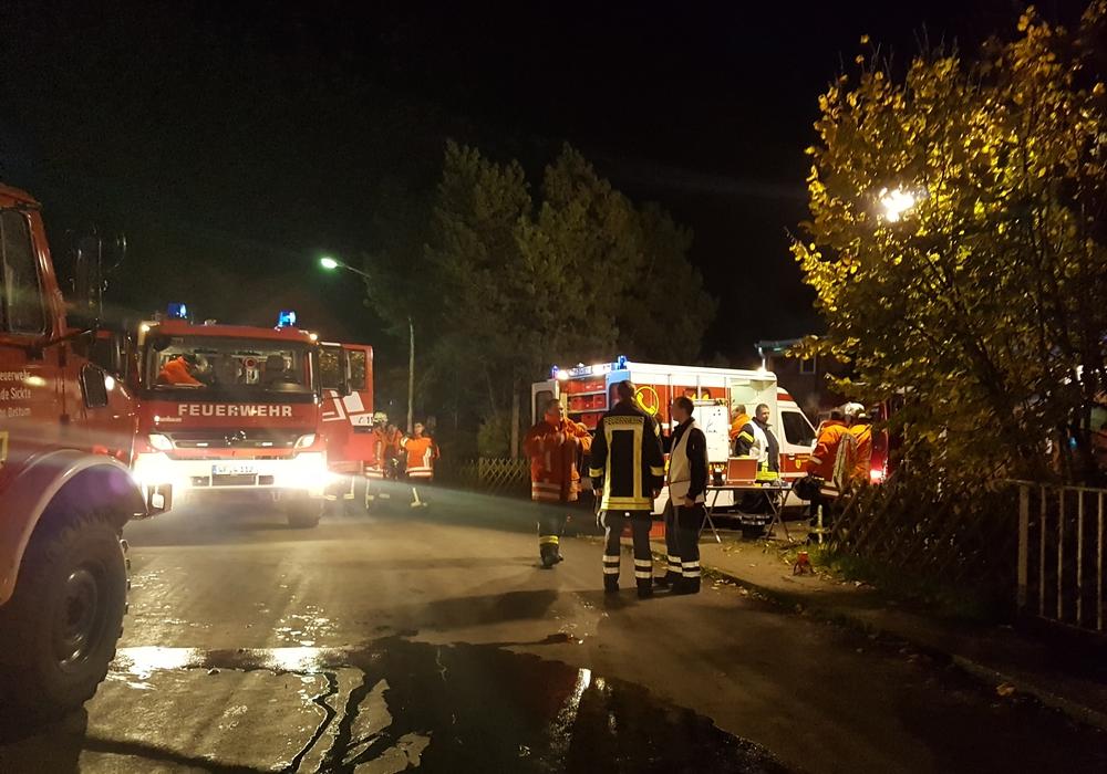 Die Feuerwehr Dettum absolvierte eine Übung. Fotos: Kristina Heine.