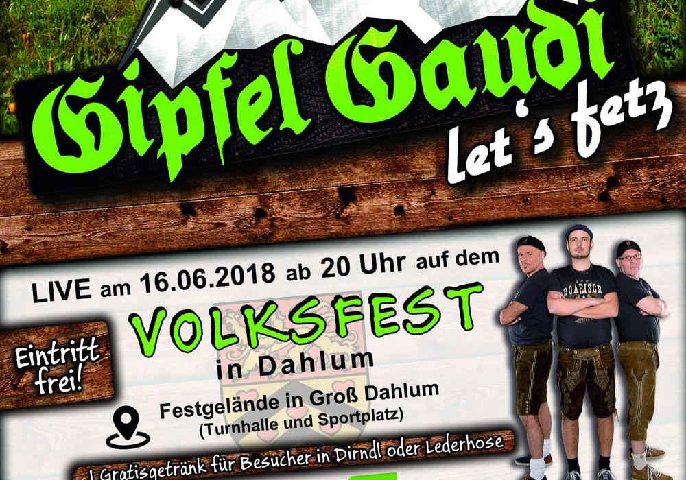 Am 15. Juni geht es los, am 16. gibt es Live-Musik! Plakat: Festausschuss Dahlum
