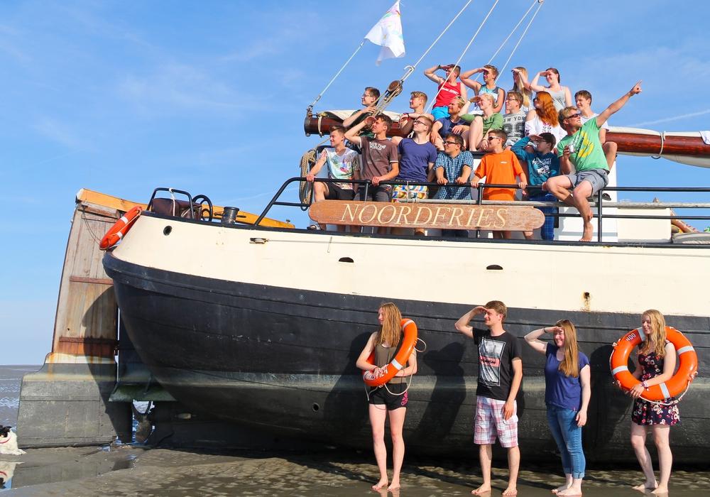 Die Jugendfreizeit der Ev. Jugend Salzgitter-Bad und Wolfenbüttel reiste ans Wattenmeer. Foto: Privat