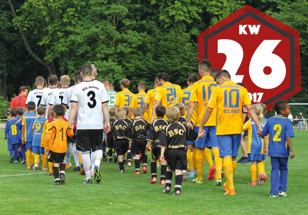 Erster Test von Eintracht Braunschweig im Konrad-Koch-Stadion. Foto: Frank Vollmer