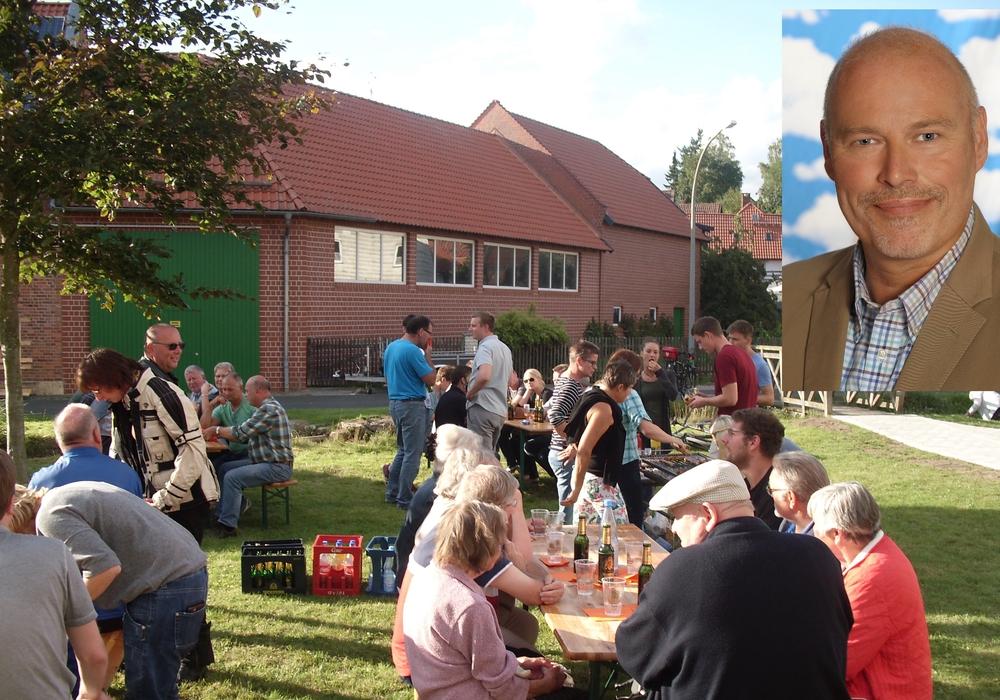 Ortsverbandsvorsitzender und Bürgermeisterkandidat Karsten Ansorge blickt auf ein erfolgreiches Grillfest zurück. Foto: Ansorge