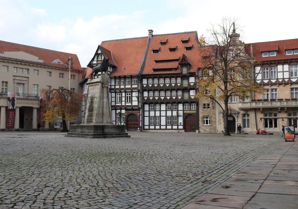 Burgplatz Braunschweig, Löwe, Symbolbild: Julia Seidel
