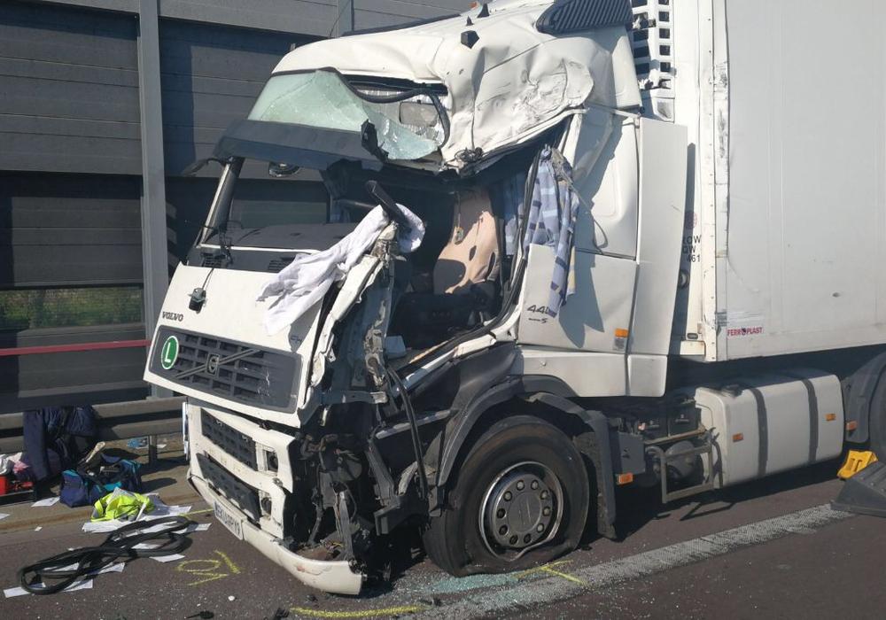 So sah der Lastwagen des Unfallfahrers aus. Foto: aktuell24 (dc)