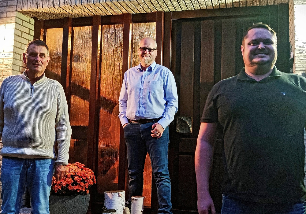 Von links: Hans-Joachim Börner, CDU Gemeindeverbandsvorsitzender Tobias Breske und Felix Pischichholz.