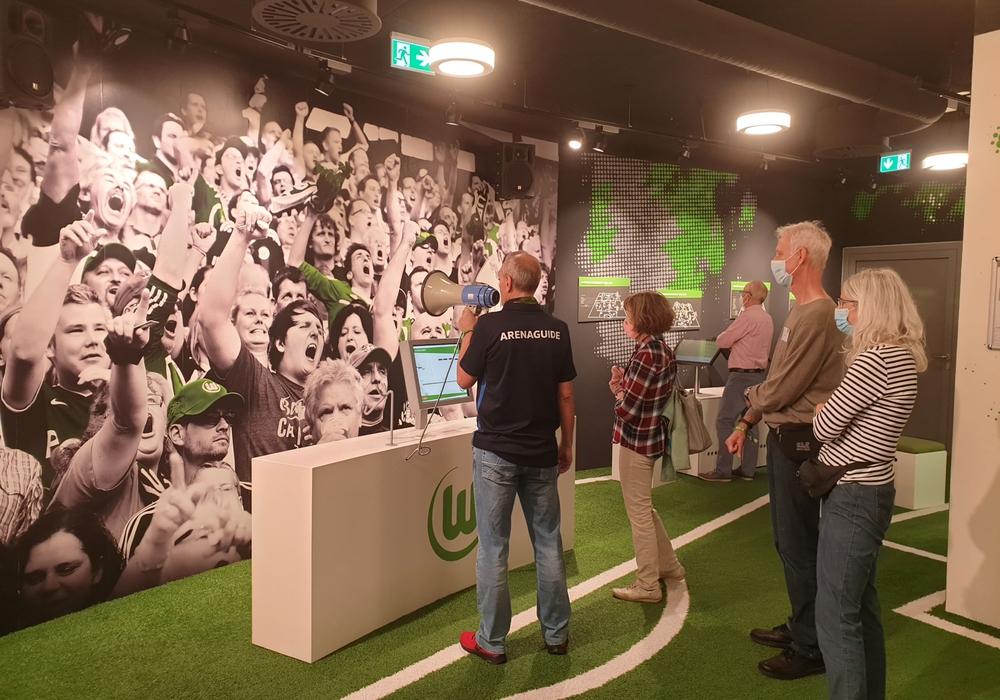 Den Teilnehmern wurde ein Einblick in die Welt des VfL Wolfsburg gewährt.