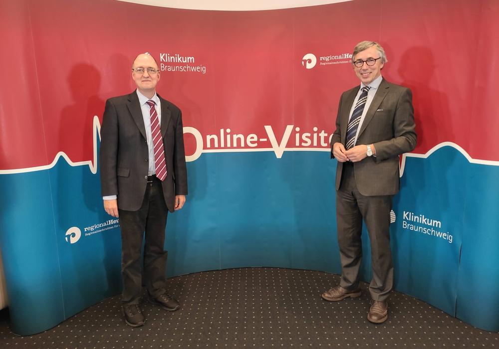Prof. Dr. Hoffmann und Prof. Dr. Hammerer standen als Experten des Städtischen Klinikums Braunschweig Rede und Antwort.