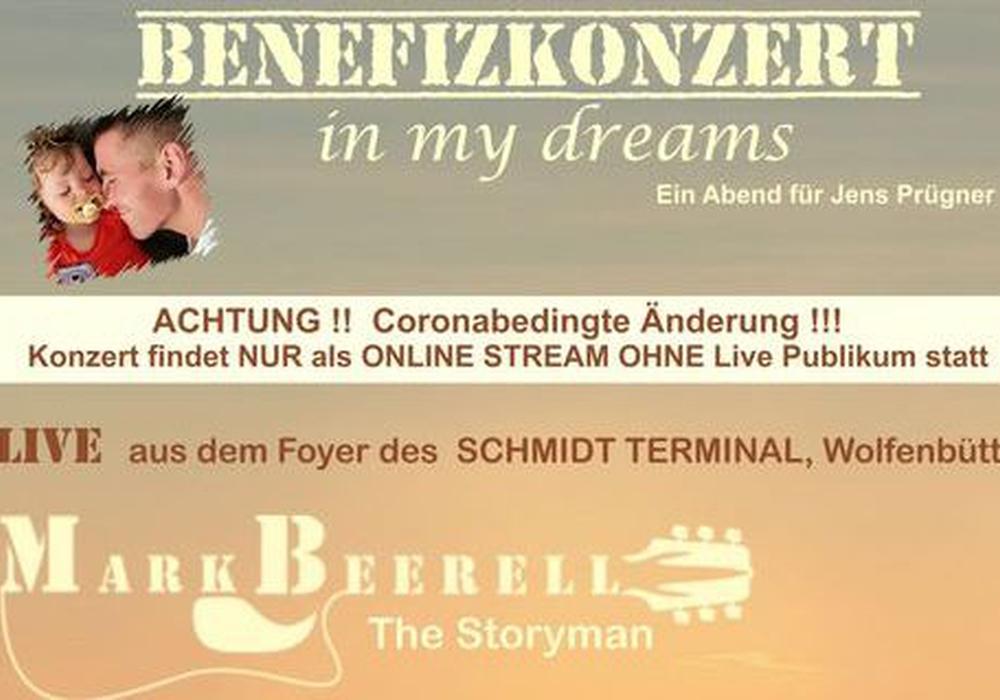 Das Benefizkonzert für Jens Prügner findet aufgrund der steigenden Coronazahlen nur online statt.