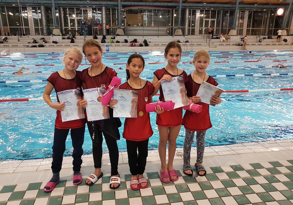 Von links: Jana, Mariella, Marissa, Isabella, Nele.