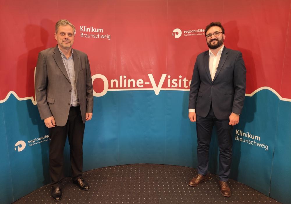 Chefarzt Prof. Dr. Matthias Heintzen und Oberarzt Khaldoun Ali vom Städtischen Klinikum Braunschweig.