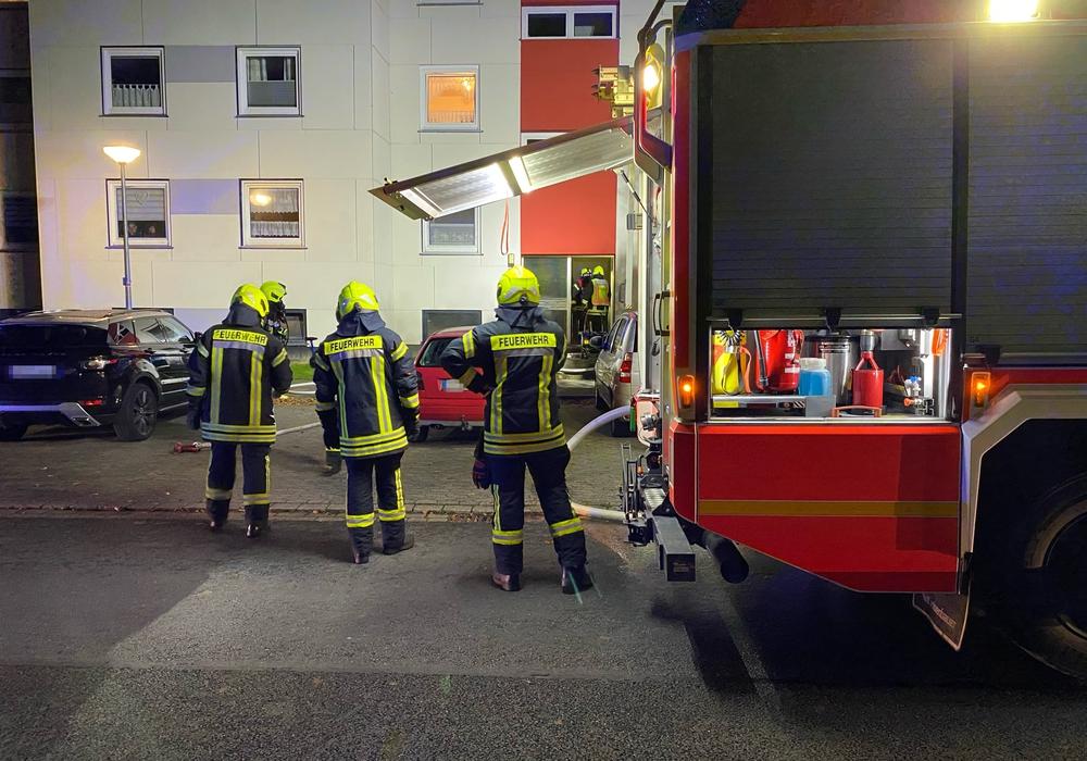 In der Einsteinstraße kam es zuerst zu einem Brand.